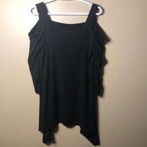 Ellen Tracy cold shoulder blouse